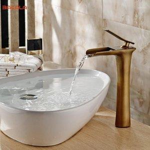 BAKALA Waterfall Brass Vanity Sink Faucet Chrome Bathroom Sink Basin Mixer Tap for your choose1