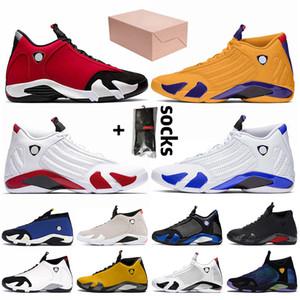 Nike Air Jordan 14 14s Jordan Retro 14 Mit BOX 2020 Mens Jumpman Basketball Schuhe Gym Red Retro Universität Gold-Air Hyper Königs Trainer Männer Turnschuhe