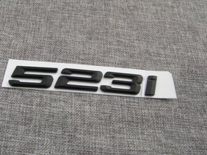 Matte Black Abs Number Letters Word Car Trunk Badge 엠블럼 편지 데칼 스티커 BMW 5 시리즈 523i