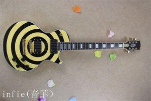 Frete Grátis 2020 Novo Zakk Wylde Bullseye Black EMG Pickups Ativos com Bateria de 9V Guitarra Elétrica