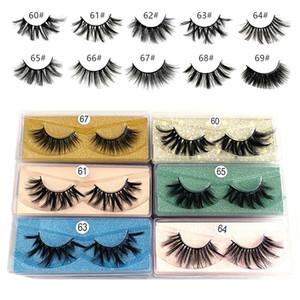 20mm 3d Mink eyelash 60~69# False Eyelash Soft Natural Thick 3d mink HAIR false eyelash natural Extension 3d Eyelashes DHL free