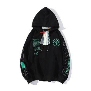 2021 hoodies orescent linha verde seta carta suéter homem casaco casaco masculino moda