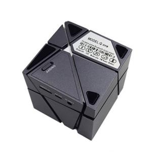 새로운 Qone 미니 큐브 스피커 3D 스테레오 사운드 휴대용 블루투스 스피커 무선 뮤직 박스 지원 TF 카드와 소매 상자 좋은
