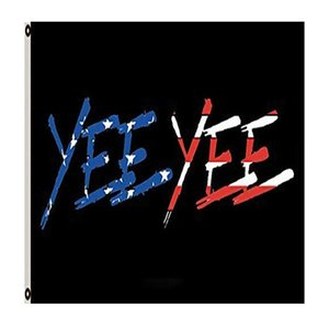 Bandeira americana Bandeira YEE YEE costuras duplas 3x5 FT bandeira 90x150cm partido do presente 100D Impresso Hot venda!