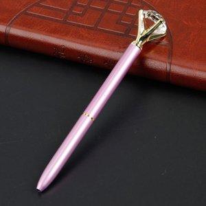 Творческий Хрусталь Kawaii Шариковая ручка Big Gem Ball Pen с большой алмаз 11 цветов Школа Управления моды Поставки BWF2627