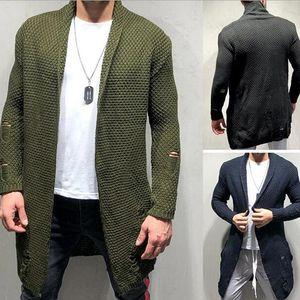 Мужчины Новое прибытие осени свитер моды шаблон корейский стиль с длинным рукавом Мужской кардиган свитер Тонкий Fit повседневные топы