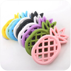 Baby Silicone Teether Chewing Silicone Pineapple Sensory Toys Teething Jewelry DIY Nursing Accessories Baby Teether