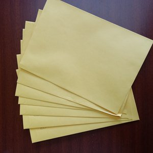 Factory professional processing custom wholesale 229mm * 162mm 100 grams of high-grade golden kraft paper envelope paper 50 pieces