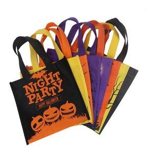 24pcs Halloween Sac à main de dessin animé Practice Practice Practice Utile Pochette sac de garniture sac de bonbons pour la fête de la boutique