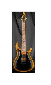 Toptan Özel Katı Boyun ile Sabit Sabit Üst 7-dize Elektro Gitar Ücretsiz Kargo