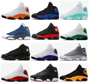 Nuovi 13 Flint nero Hyper Reale Starfish fortunato verde Aurora Verde Grigio Atmosfera pallacanestro Scarpe Uomo 13s Chicago Bred Sneakers Sport