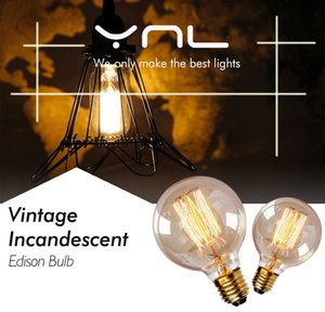 intage Edison Bulb E27 ST64 T10 T45 G80 G95 40W Chandelier Pendant Lights 220V LED Lamp Incandescent Light Rope Lamp Holder E27