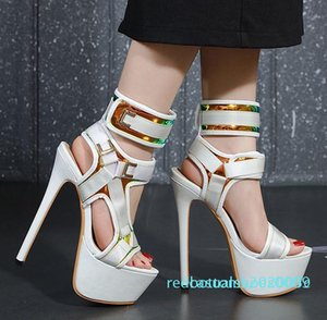 1Hot slae-with box luxury fashion white ultra high heels gladiator women sandals designer shoes come with box size 34 to 40 r05