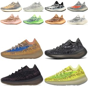 2021 Últimos zapatos Kanye West 380 V3 Running Shoes Top Quality Pepper Blue Oat Alien Mist 3M Reflective Hombres Mujeres Zapatillas Zapatillas deportivas casuales