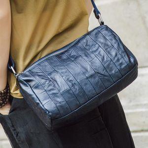 Vintage Genuine Leather Women's Messenger Shoulder Bag Female Cross-body Soft Casual Shopping Bags