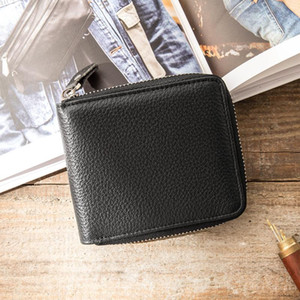 HBP best quality black genuinel leather short mens wallet with box luxurys designers wallet womens wallet purse credit card holder 126