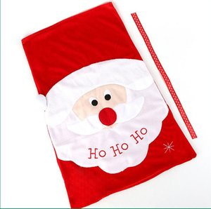 Yeni Creative Santa Şeker Çanta Kırmızı Altın Kadife Tote Noel arifesi Hediye Çanta Tatil Parti Süsleri EEE2725