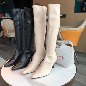 2021 INS New Winter Women Knee High Heel Boots Lady Riding Botas Winter Shoes Women Sexy Pointed Toe Casual Footwear
