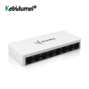 8 portas LAN Ethernet switch de rede 10 / 100Mbps LAN Rede de Alto Desempenho Switches Ethernet com adaptador UE