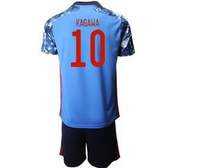 20-21 Atom Captain Tsubasa Japan Home Away Men Soccer Jersey Sets Jerseys With Shorts Captain Tsubasa 10 Nakajima Football Shirts Kagawa