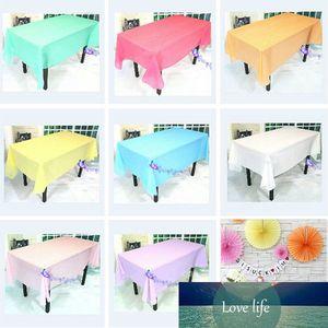 Nützliche PEVA-Einweg-Tischdecke Massivfarbe Hochzeit Geburtstags-Party-Tischdecke Tischdecke Rechteck-Schreibtisch-Tuch-Wipe-Cover