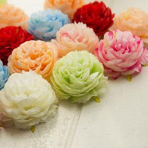 300PCS Artificial Flowers Heads Hydrangea Peony Flower Heads Silk Artificial Flowers Wall For Wedding Decoration Background Wall LX1337