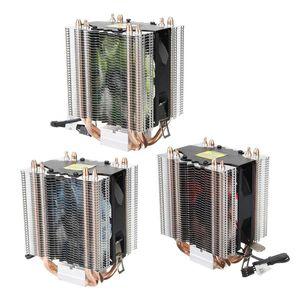 PC Computer Cooling Fan LED 4 Heat Pipe Silencioso Cooler Cooling Fan Dissipador Silencioso água-de refrigeração para PC Computer