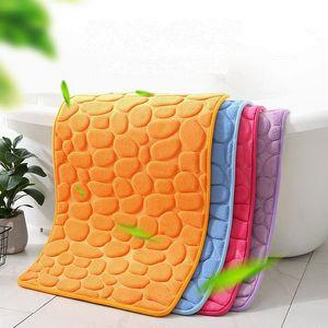 الذاكرة رغوة حمام حصيرة مريحة الطابق حمام حصيرة السجاد 40 * 60 سنتيمتر سوبر امتصاص الماء عدم الانزلاق الحمام الطابق البساط GWA3572