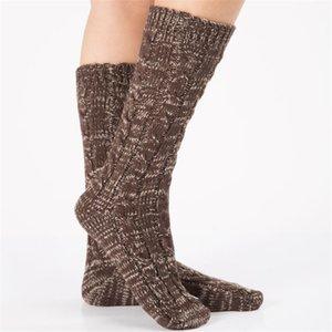 Frau Gestrickte Fußsocke Dame Mädchen Bein Herbst Winter Halten Warme Boot Cover Socken Frauen Halloween Weihnachten Fuß Socken Ewa1836
