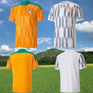 2020 2021 Equipo nacional de fútbol de Costa de Marfil Jerseys de fútbol 20 21 Costa de Marfil Drogba Yaya Touré Kolo Toure Camisa de fútbol