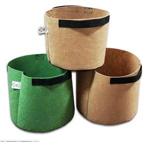 Premium Series Plantez des sacs de culture 2-10 gallon rond de tissu non tissé plante pots pots poche racine pots de fleur pots de jardin poignées de jardin
