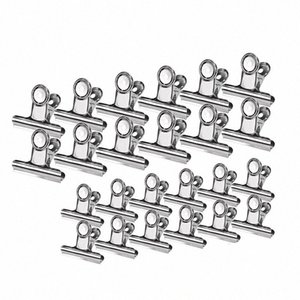 24 Pcs Stainless Steel Heavy Duty Hinge Clips Big Size Multi-Purpose For Air Tight Seal Grip On Kitchen Office Paper Clip ia4X#