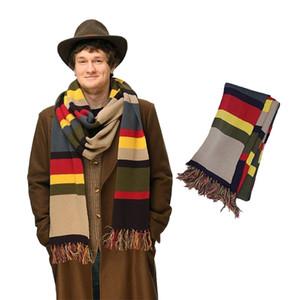 TV Dr Doctor Who Sciarf Delxue strisce Tom Baker Sciarpa inverno caldo super lungo 143 * 9 pollici scialle cosplay costume regalo taglia 365 * 23cm T200103
