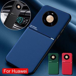 Caso de couro de luxo para Huawei Mate 30 20 Pro 10 P20 P30 P40 Lite P10 Plus Capa Magnética para Huawei Nova 5T 5 6 7 Pro Case