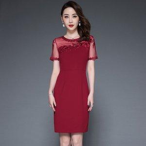 P3OPt 2020 yeni kadın giyim mizaç kollu kısa moda zarif orta yaşlı anne yaz anne put ve yaşlı annenin elbise koyun yDK4r