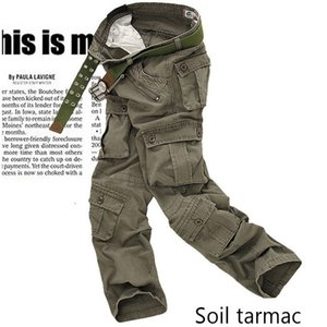 mens cargo pants black Summer Fashion Men Army many pocket camo trouser male urban tactical straight Camouflage Pants Men 201110