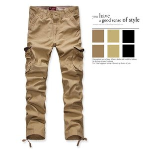 Men's Cotton Multi-Pocket Loose Overalls Trousers Stretch Baggy Casual Trousers Fashion Solid Loose Jogger Streetwear Spring Mens Pants