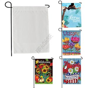 Sublimation Polyester fiber blank garden Flag for Valentine's Day Easter Day hot transfer printing Banner Flags consumables 30*45cm D102904