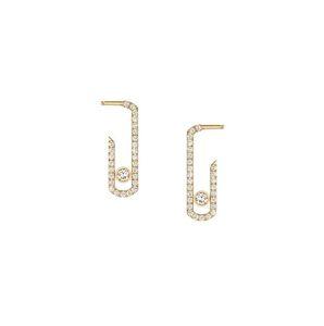 Punk rock pur cristal cz mouvement zircon bijoux mode bijoux sterling pavée boucles boucles d'oreilles nouvelles concepteurs boucles d'oreilles pour femmes