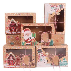 12 24pcs Merry Christmas Gift Box Christmas Decoration For Home Navidad Gifts Decor Santa Claus Snowman Neol Happy New Year 2021