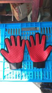 Pet gant de cheveux peigne pour animaux Chien Chat Toilettage Nettoyage Gant deShedding gauche main droite Épilation Brosse favoriser la circulation sanguine bateau rapide