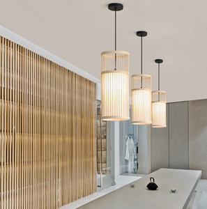 Artpad китайский светодиодный Бамбуковые подвесные светильники современного искусства Вуд Для столовой отеля Главная Indoor Декор Wicker висячие лампы E27