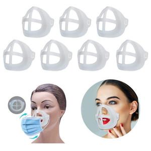 قناع القوس PP 3D قناع الوجه دعم الداخلية الإطار مريح التنفس قابل للغسل قابلة لإعادة الاستخدام محفظة 5pcs / حزمة واضحة أقنعة القوس