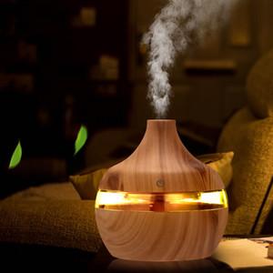 USB Mini Mist Maker LED Light Electric Humidifier Essential Aroma Oil Diffuser Grain Aroma