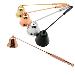 Candle Snuffer Bell Shaped stainless Steel Candles Wick Trimmer candle Cover Wedding Candles home tool 20cm FFA4513