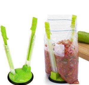 Mains Baggy Rack Plastic Baggy Ouvre-Porte-rack Clip Food Sac de rangement Support Porte-Cuisine Outils de cuisine