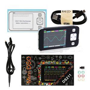 MINI DS211 محمول شاشات الكريستال السائل الرقمية راسم ARM نانو حجم الجيب الرقمية المهنية DSO211 السيارات مع MCX مسبار