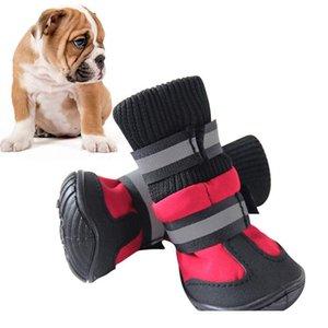 Haustierhundschuhe für Sportberg tragbar für Haustiere PVC-Sohlen wasserdichte reflektierende Hundestiefel perfekt für BBYKVM