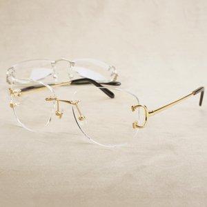 Occhiali Luxury Oval Carter Eyeglass Installazione del computer Casuale Vetro trasparente per telaio O15C trasparente JLRHL