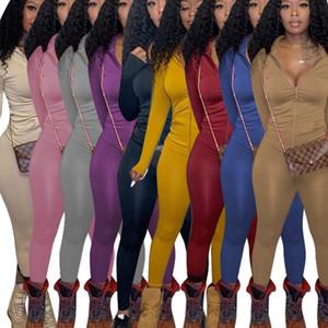 Femmes Tracksuits 2 pièces Cuissards de piste Designer Automne Hiver Long Manches Long Machiche à glissière Pantalons Tenue de sport Casual Sportwear